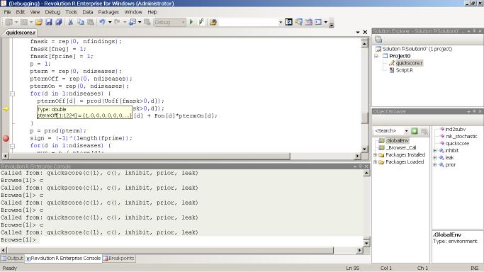Revolution R Enterprise 4 IDE
